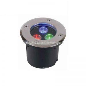 Den-LED-am-dat-3W-doi-mau-RGB-dien-ap-12V-24V-220V